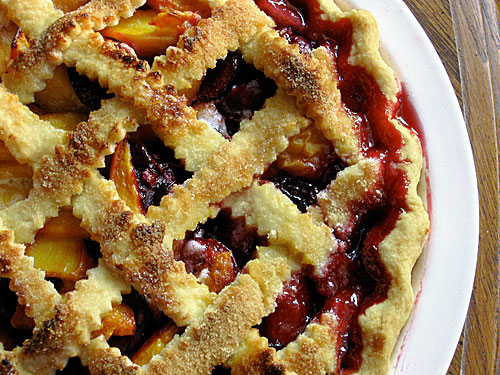 Peach, Apricot and Cherry Pie