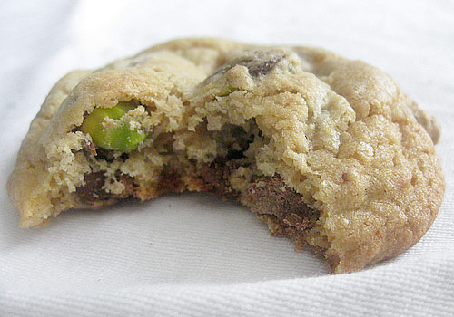 Chocolate-Pistachio Cookies Recipe — Dishmaps