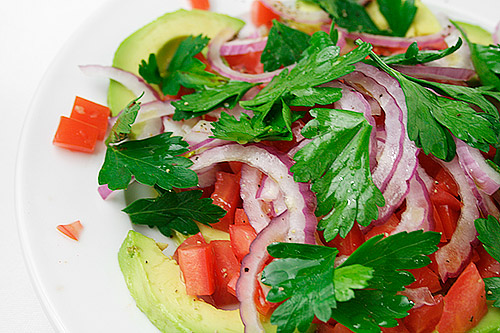 It's an Avocado, Tomato and Red Onion Salad … simply dressed with ...