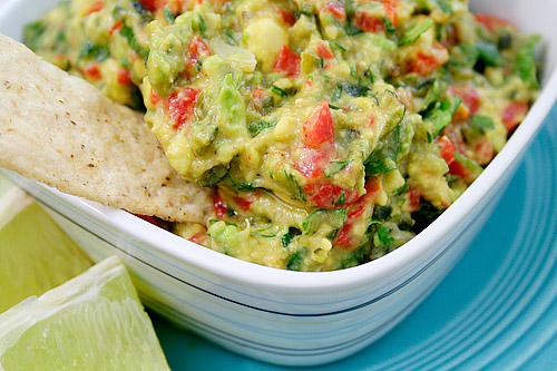 Roasted Garlic, Poblano, and Red Pepper Guacamole Recipe (Party ...