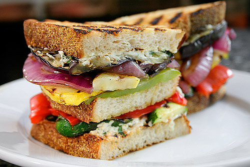Meatless Monday: Grilled Vegetable and Goat Cheese Sandwiches
