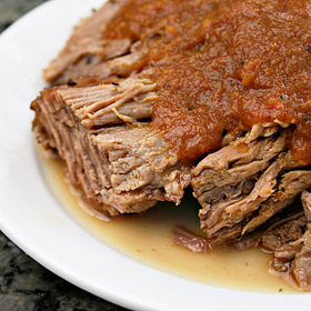 Country-Style Pot Roast with Tomato and Red Wine Gravy