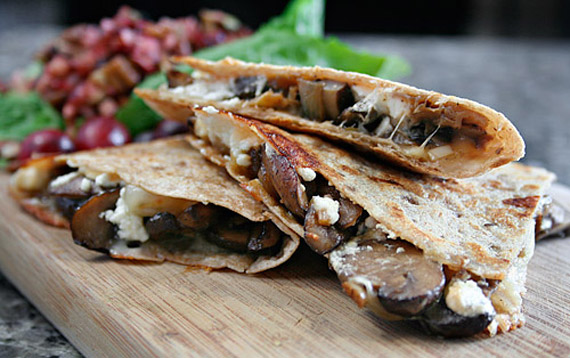 Wild Mushroom and Goat Cheese Quesadillas