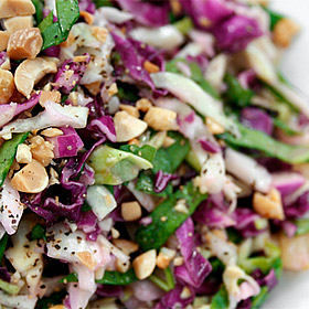 Asian Slaw with Roasted Peanuts