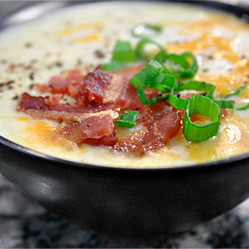 Light Loaded Potato Soup