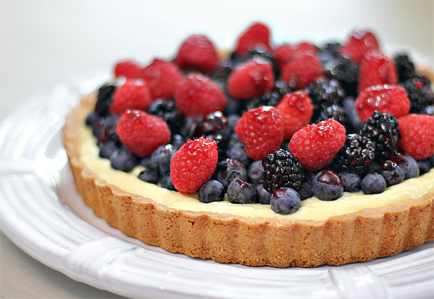 berry flan recipe