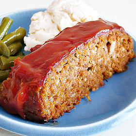 Family-Style Meatloaf with Comforting Cream Cheese Mashed Potatoes