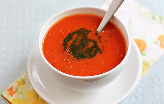 Summer Tomato And Bell Pepper Soup Recipe — Dishmaps