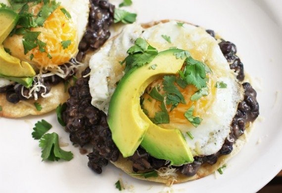 Mexican Tostada Topped With A Poached Egg Recipes — Dishmaps