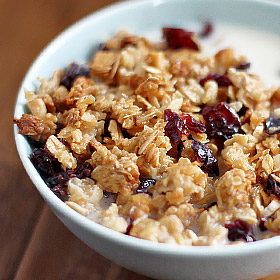 Cranberry Almond Granola Parfaits Recipes — Dishmaps