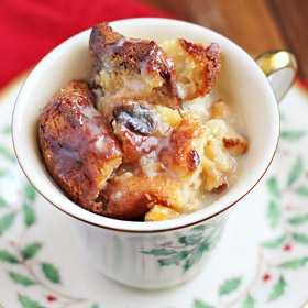 Meatless Monday: Panettone Bread Pudding with Amaretto Sauce