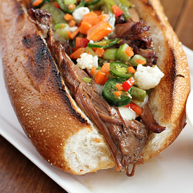 Chicago Italian Beef Sandwich (Slow Cooker Style)