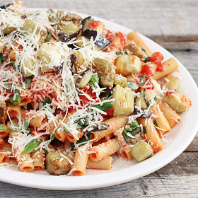 Meatless Monday: Ziti with Roasted Eggplant and Ricotta Cheese