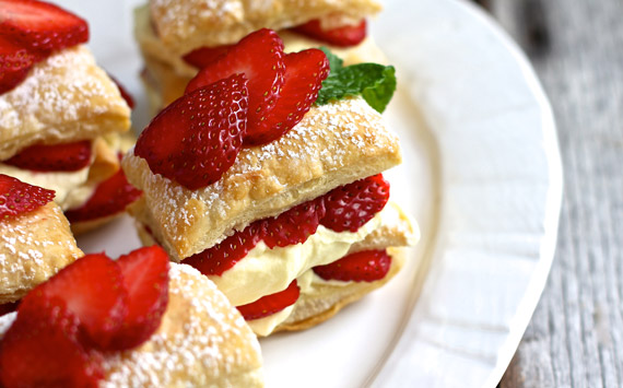 Mini Strawberry Napoleons - Ezra Pound Cake