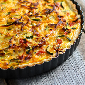 Meatless Monday: Zucchini, Tomato and Cheese Tart