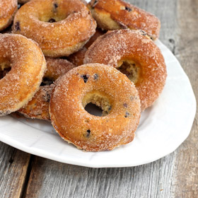 Wild Blueberry Baked Doughnuts